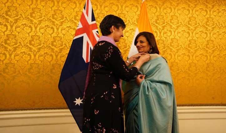किरण मजूमदार शॉ को ऑस्ट्रेलिया ने दिया अपना सर्वोच्च नागरिक सम्मान