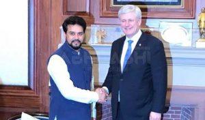 कनाडा के पूर्व PM ने अनुराग से की मुलाकात