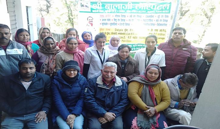 श्री बालाजी अस्पताल ने सदरपुर में लगाया स्वास्थ्य जांच शिविर, 150 लोग जांचे