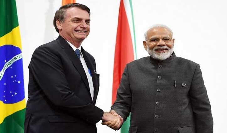भारत पहुंचे ब्राज़ील के राष्ट्रपति, गणतंत्र दिवस समारोह में होंगे मुख्य अतिथि