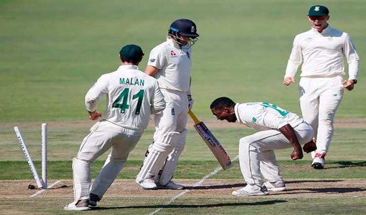 विकेट लेने के बाद 'उकसावे' वाले जश्न के लिए रबाडा पर लगा एक टेस्ट का बैन