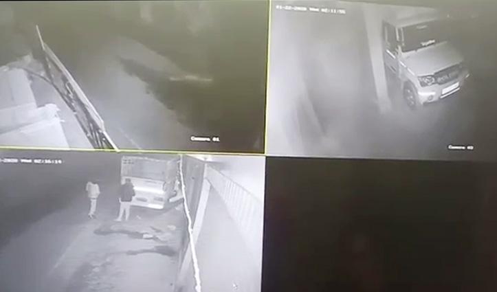 Hamirpur Police के हत्थे चढ़ा टायर चोरी करने वाले गिरोह का वाहन