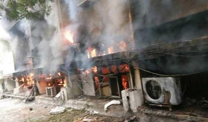 दिल्ली परिवहन विभाग के दफ्तर में लगी आग, BJP और कांग्रेस ने उठाए सवाल