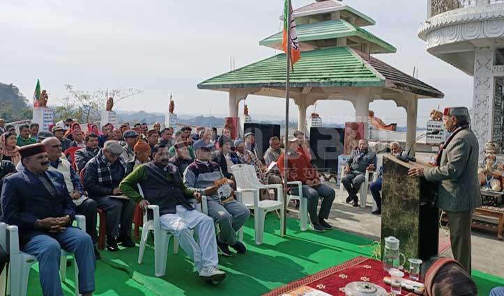 सुजानपुर में बोले पूर्व सीएम धूमल, CAA नागरिकता प्रदान करेगा छीनेगा नहीं