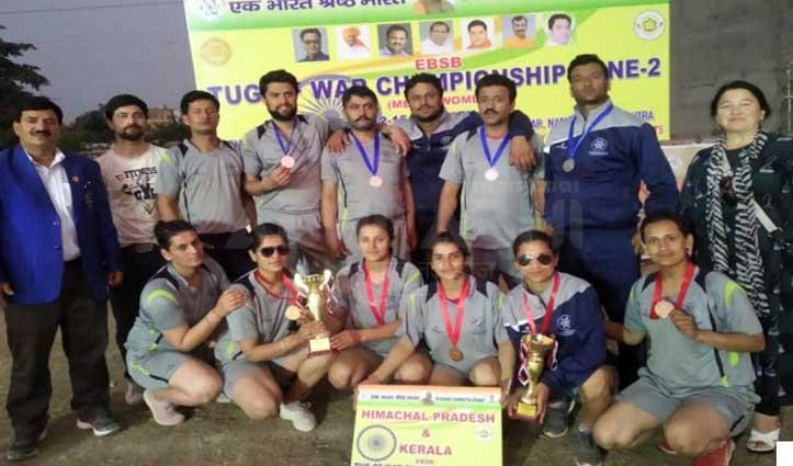 हिमाचल की लड़कियों ने अंतरराष्ट्रीय रस्साकस्सी प्रतियोगिता में जीता गोल्ड
