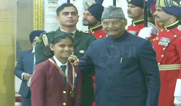 """Himachal की बेटी अलाइका को राष्ट्रपति के हाथों मिला """"वीरता पुरस्कार"""""""