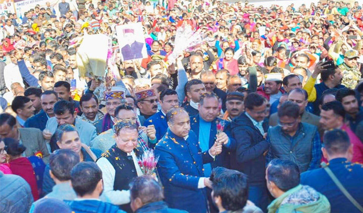 महेंद्र के धर्मपुर में CM JaiRam,कई योजनाओं के शिलान्यास व उद्घाटन, देखें तस्वीरें