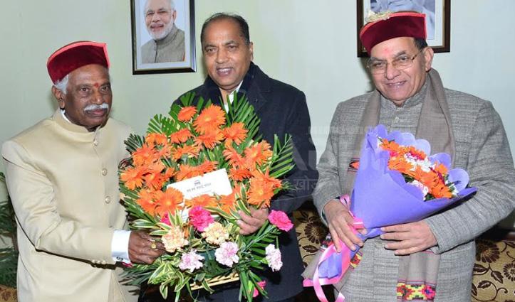 Jai Ram ने राज्यपाल दत्तात्रेय को दी New Year की शुभकामनाएं, Baldi ने संभाला कार्यभार