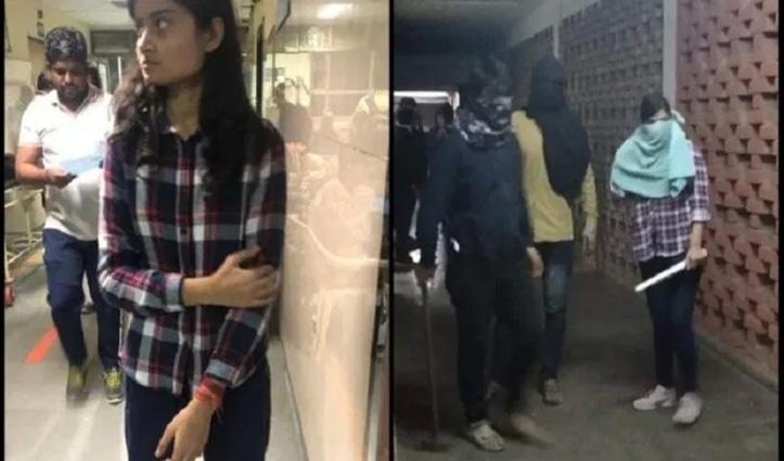 JNU: इस मास्कधारी लड़की को बताया जा रहा ABVP कार्यकर्ता, पकड़ा गया झूठ