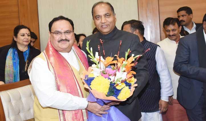 Jai Ram ने Nadda से मिलकर दी बधाई, Himachal के लिए सर्वोच्च पद को बताया गर्व की बात
