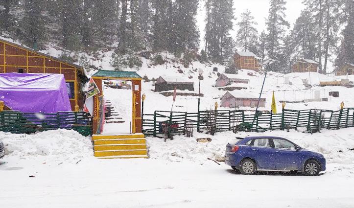 हिमाचल: बर्फबारी से अब तक 105 करोड़ का नुकसान, 75 मार्गों पर यातायात ठप