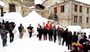 Lahaul में पुत्र प्राप्ति को खुलची पर चलाया बाण, Bhaga Valley में गोची उत्सव का शुभारंभ