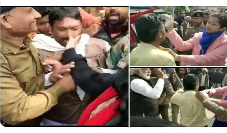 CAA के समर्थन में रैली करने वालों को महिला डिप्टी कलेक्टर ने मारा तो प्रदर्शनकारियों ने खींचे बाल