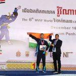 पुरूषोत्तम सिंह ने वर्ल्ड वोविनाम मार्शल आर्ट चैंपियनशिप में Bronze Medal
