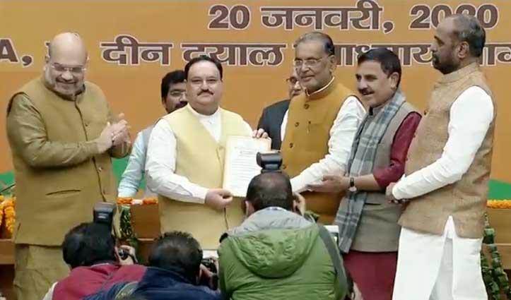 ब्रेकिंग: Nadda बने बीजेपी के Big Boss, गृह मंत्री अमित शाह ने दी शुभकामनाएं