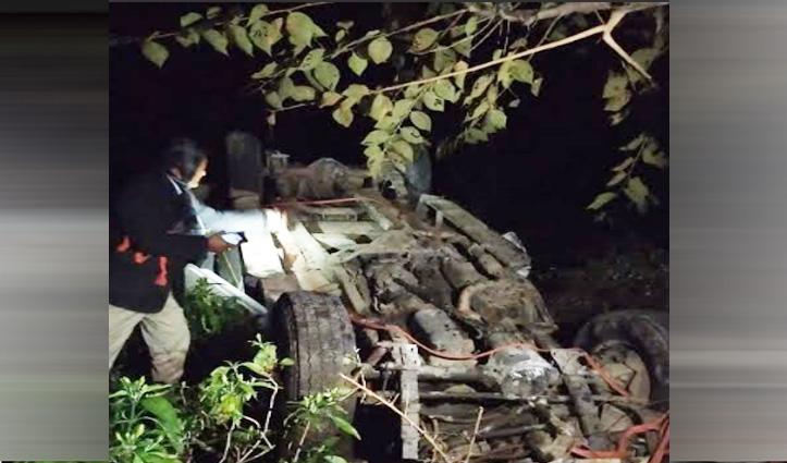 गहरी खाई में गिरी Bolero camper, दो घायलों ने अस्पताल में तोड़ा दम