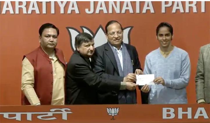 Breaking : साइना नेहवाल BJP में शामिल, बोलीं – कड़ी मेहनत करने वालों के साथ काम करना पसंद