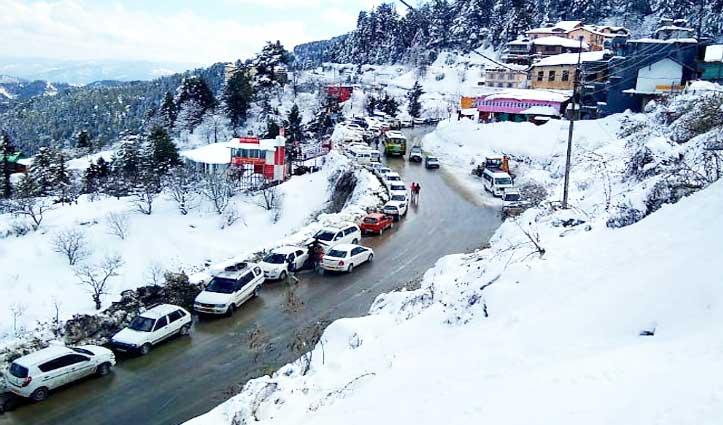 Snowfall के बाद खिली धूप, पर्यटक स्थलों पर सैलानियों का उमड़ा सैलाब