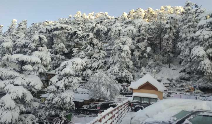 Snowfall के बाद खिली धूप, चांदी से चमके पहाड़, तस्वीरों में देखें नजारा