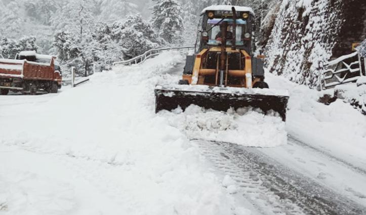 Snowfall से सबकुछ जाम, बिजली आपूर्ति ठप, HRTC की बसें फंसी