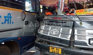 Solan के धर्जा में दो बसों में भिड़ंत, कई यात्री पहुंचे अस्पताल