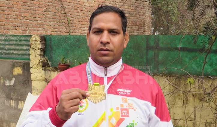 सुंदरनगर के जितेंद्र ने अंतरराष्ट्रीय ग्रेपलिंग प्रतियोगिता में जीता सोना