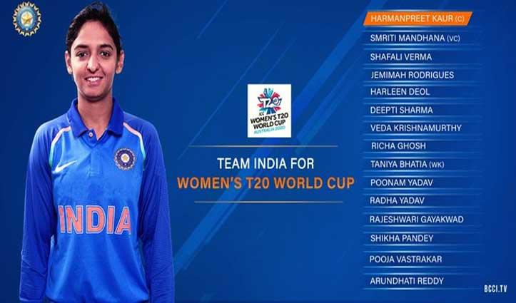 T-20 विश्व कप के लिए टीम इंडिया का ऐलान, ये नया चेहरा हुआ शामिल