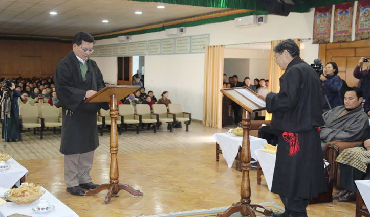 Tenzin Lungtok sworn in as new Justice Commissioner of Tibetan Supreme Justice Commission