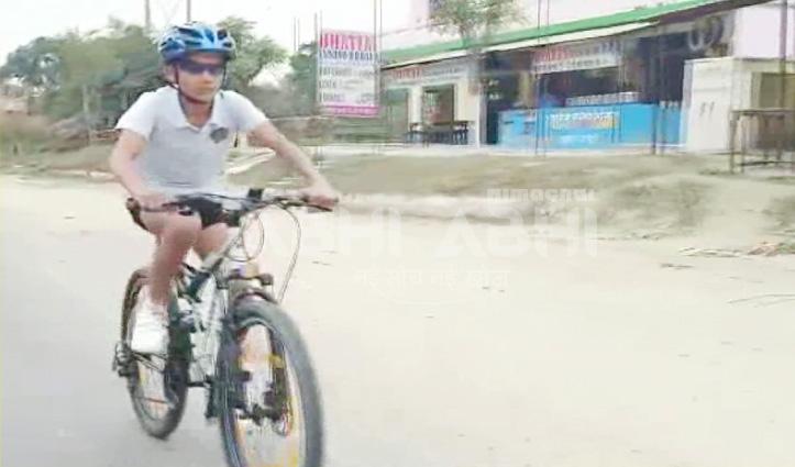 ऊना के गुरदेव ने 45 किमी दौड़ाई साइकिल, International Book of Record में दर्ज हुआ नाम
