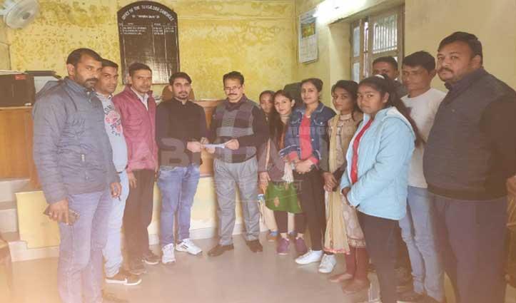 धर्मपुर युवा कांग्रेस ने सरकार को चेताया, मांगें माने नहीं तो होगी भूख हड़ताल