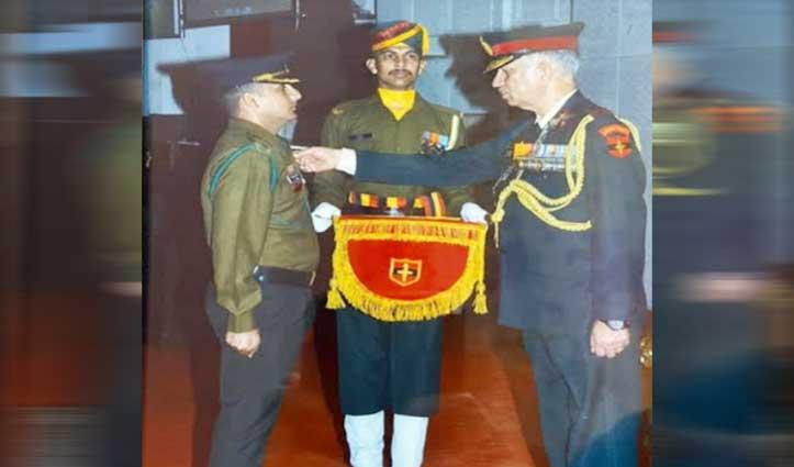 जवाली के Major Vikas Dhiman को सेना मेडल से किया सम्मानित