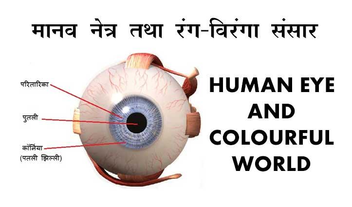 विज्ञान विषयः अध्याय-11… मानव नेत्र तथा रंग-विरंगा संसार