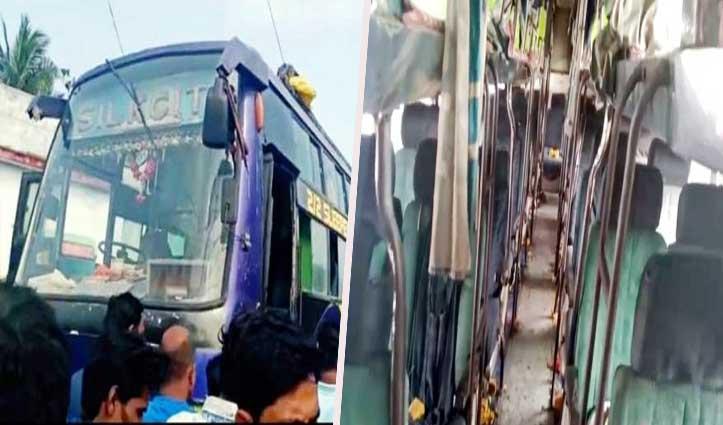 बड़ा हादसा: हाईटेंशन लाइन की चपेट में आई बारातियों की Bus, 8 की गई जान