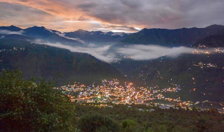 हिमाचल के एक शहर की सुबह का नजारा