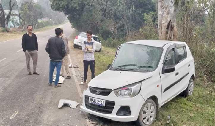 Manali और नूरपुर में टकराईं गाड़ियां, तीन घायल-ब्यास में गिरी एक कार