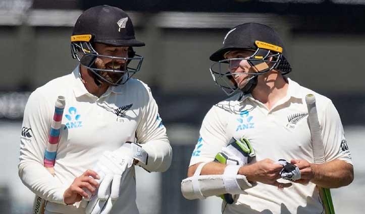 INDvsNZ: पहले दिन का खेल समाप्त, इंडिया को ऑल-आउट कर न्यूजीलैंड का स्कोर- 63/0