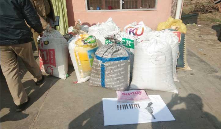 डमटालः देसी कट्टे, 10 रौंद और 3 क्विंटल से अधिक चूरा पोस्त सहित महिला धरी