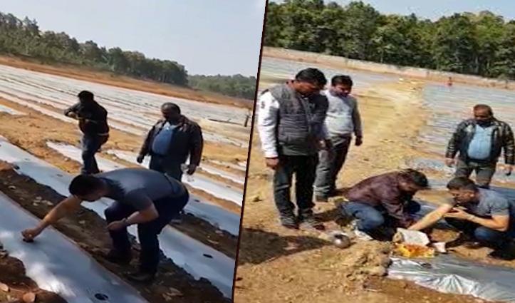 Video : इन दिनों खेती में हाथ आजमा रहे हैं Dhoni, किसानों के साथ की ऑर्गेनिक खेती