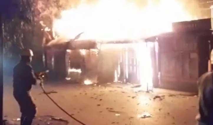 Rabindra Nagar market में भीषण आग, फायर ब्रिगेड की पांच गाड़ियां मौके पर