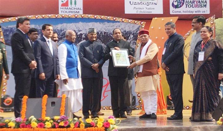 राष्ट्रपति कोविंद ने किया सूरजकुंड मेले का शुभारंभ, हिमाचल के CM Jairam रहे मौजूद