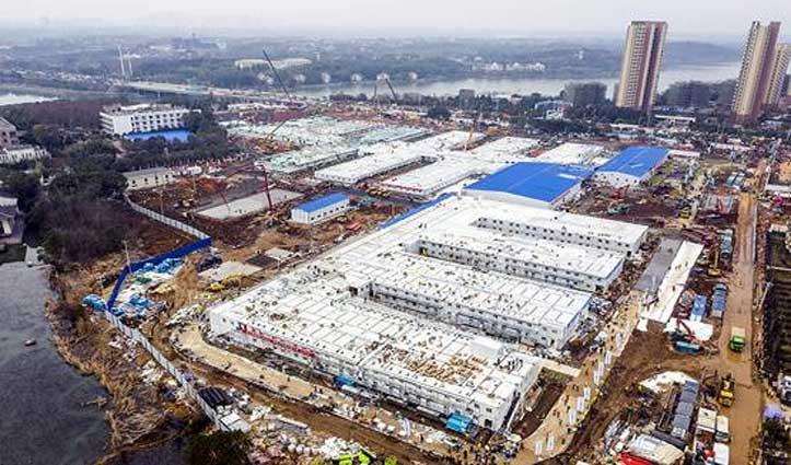 Corona Virus: चीन के वुहान में 1000 बेड का अस्पताल 10 दिन में तैयार, देखें तस्वीरें