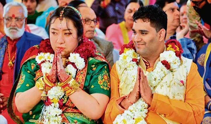 भारतीय ने चीनी युवती से की शादी, कोरोना वायरस के चलते दुल्हन का परिवार निगरानी में