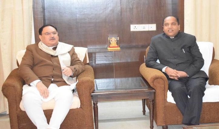 बीजेपी अध्यक्ष जेपी नड्डा से मिले CM Jai Ram,आज यहां करेंगे चुनाव प्रचार
