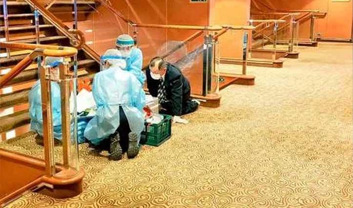 जापान: 64 Coronavirus के मरीजों के साथ क्रूज़ पर फंसे 200 भारतीय