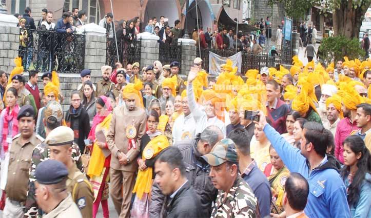 ढोल नगाड़ों की थाप से गूंज उठी छोटी काशी, धूमधाम से निकली Shivaratri महोत्सव की दूसरी शोभायात्रा
