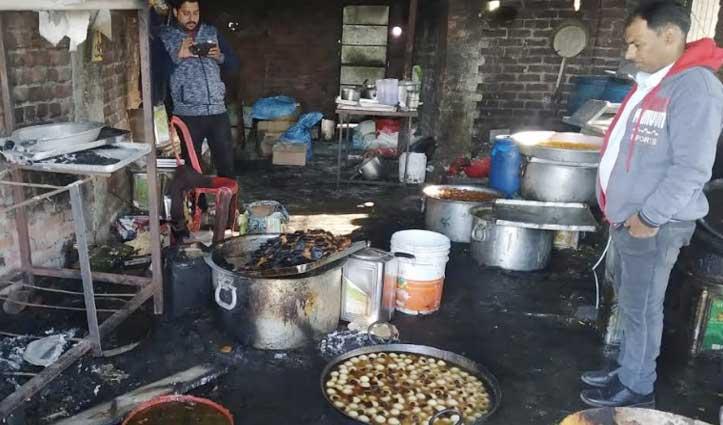 मिठाई की दुकान में लगी आग, निचली मंजिल में सो रहे थे कामगार
