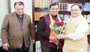 JP Nadda से मिले ग्रामीण विकास मंत्री वीरेंद्र कंवर