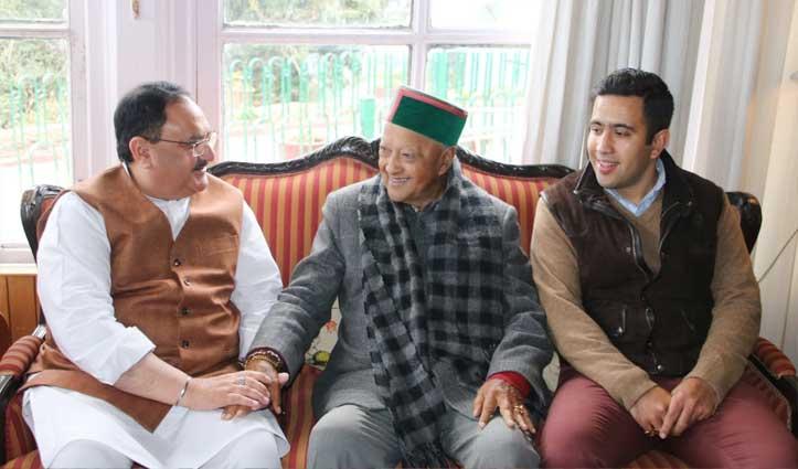 First Hand: राजभवन होते हुए Virbhadra की चौखट लांघ आए BJP के नड्डा