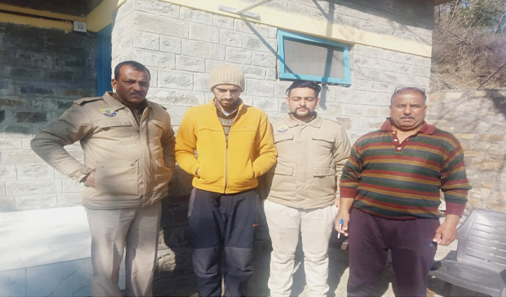 Chopal Police ने चिट्टे के साथ पकड़ा युवक