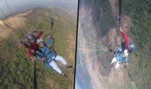 मंत्री राजीव सैजल ने 1800 फुट की ऊंचाई से भरी रोमांच की उड़ान, वायरल हुईं Pics
